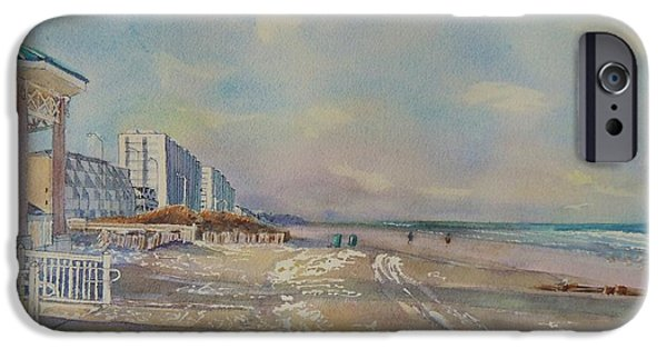 Jersey Shore Paintings iPhone Cases - Sea Isle City New Jersey iPhone Case by Patty Kay Hall