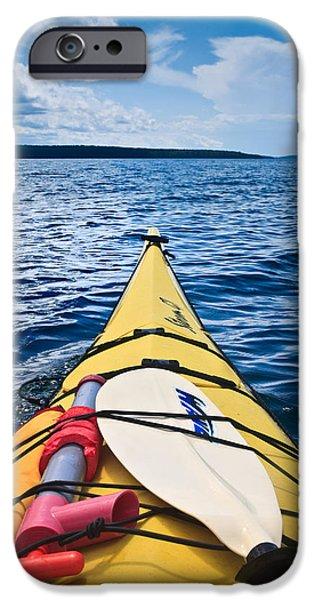 Kayak iPhone Cases - Sea Kayaking iPhone Case by Steve Gadomski