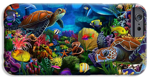 Atlantis iPhone Cases - Sea of Beauty iPhone Case by Gerald Newton