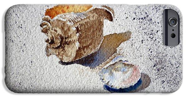 Sea Shell iPhone Cases - Sea Shells iPhone Case by Irina Sztukowski