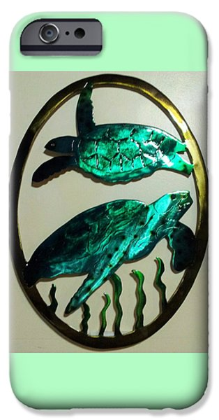 Wildlife Reliefs iPhone Cases - Sea Turtles iPhone Case by The  Torchcutters