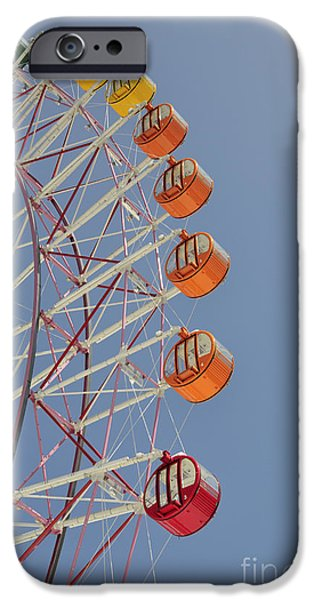 Pleasure iPhone Cases - Seacle ferris wheel iPhone Case by Andy Smy