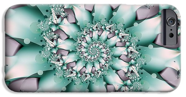 Michelle iPhone Cases - Seafoam Spring iPhone Case by Michelle H