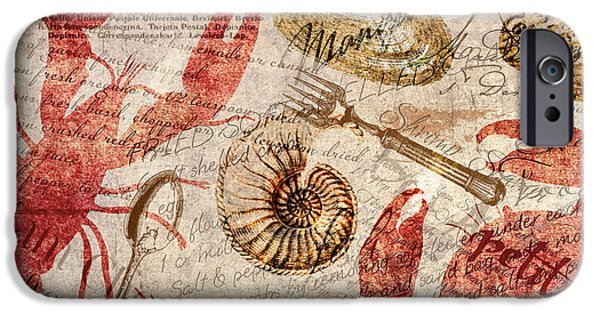 Seafood iPhone Cases - Seafood Restaurant Postcard iPhone Case by Mindy Sommers