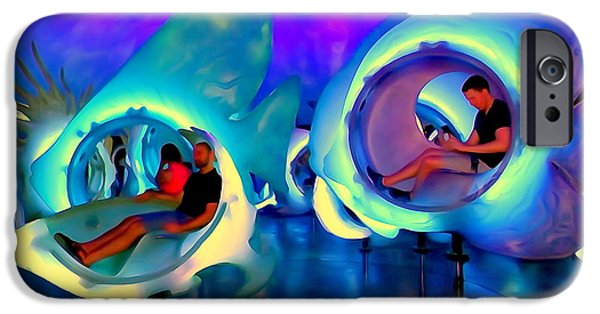 Abstract Digital Photographs iPhone Cases - Seaglass Carousel #3 iPhone Case by Ed Weidman