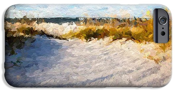 Wine Bottles iPhone Cases - Seagrass breeze iPhone Case by Anthony Fishburne