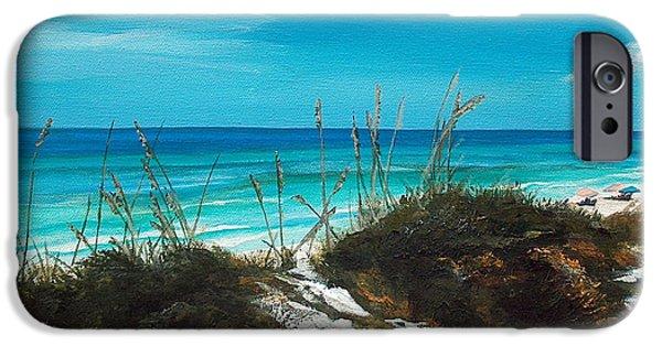 Florida Panhandle iPhone Cases - Seagrove Beach Florida iPhone Case by Racquel Morgan
