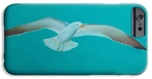 Seagull Pastels iPhone Cases - Seagull iPhone Case by Tony Holm