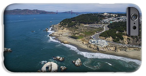 Sea Birds iPhone Cases - Seal Rocks at the Cliff House iPhone Case by David Levy
