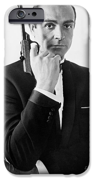 Guns iPhone Cases - Sean Connery (1930-) iPhone Case by Granger