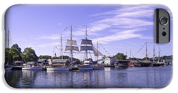 Tree Art Print iPhone Cases - Seaport Scenery 3 iPhone Case by Joe Geraci