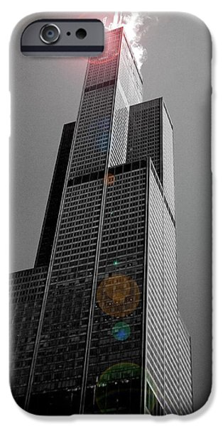Sears Tower iPhone Cases - Sears Tower 2 iPhone Case by BuffaloWorks Photography