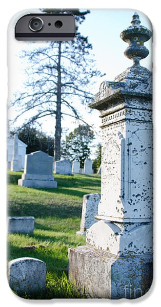 Burying Ground iPhone Cases - Searsport Cemetery iPhone Case by Jennifer Booher