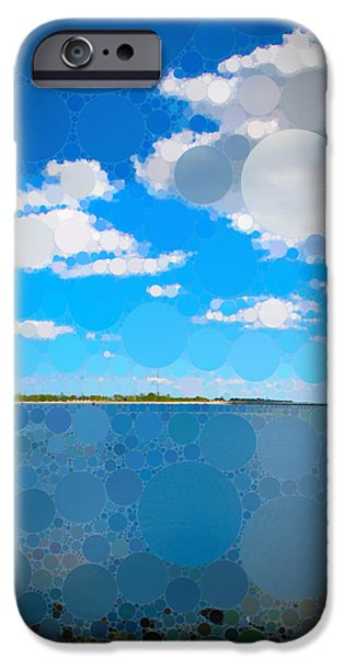 Pleasure Digital iPhone Cases - Seascape 1 - percolated iPhone Case by John Deecken