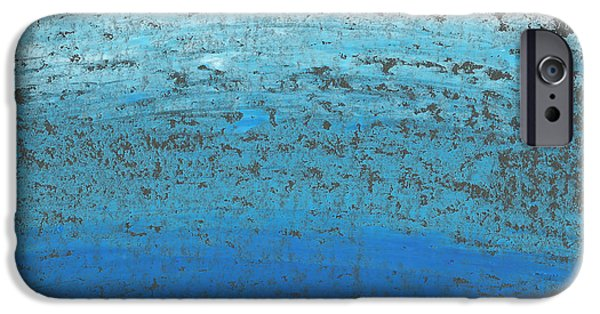Abstract Seascape iPhone Cases - Seascape Abstract iPhone Case by Edward Fielding