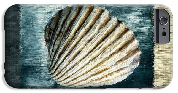 Coastal Decor Digital iPhone Cases - Seashell Souvenir iPhone Case by Lourry Legarde