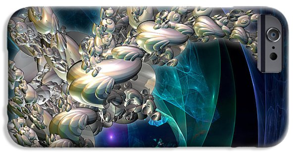 Abstract Digital iPhone Cases - Seashells in an Aquarium iPhone Case by Jane Spaulding