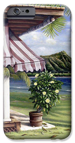 Recently Sold -  - Overhang iPhone Cases - Seaside Hotel iPhone Case by Sandra Blazel - Printscapes