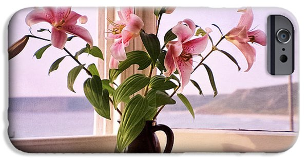 Ledge iPhone Cases - Seaside Lilies iPhone Case by Terri  Waters