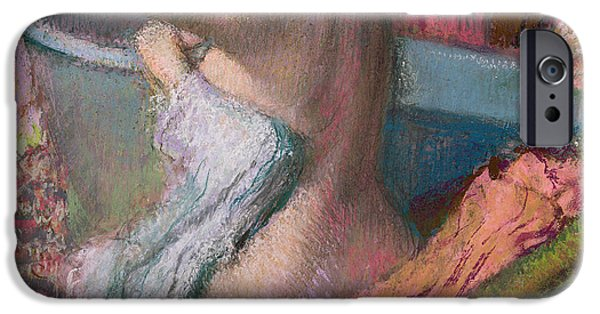 Figures iPhone Cases - Seated Bather iPhone Case by Edgar Degas