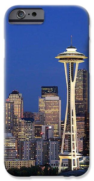 Seattle at Dusk iPhone Case by Adam Romanowicz