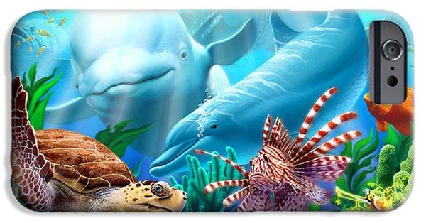 Reptiles iPhone Cases - Seavilians iPhone Case by Jerry LoFaro