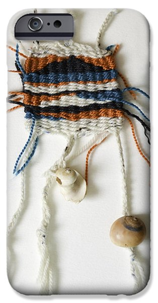 Cape Cod Tapestries - Textiles iPhone Cases - Seaweed Weaving iPhone Case by Melissa Brazeau