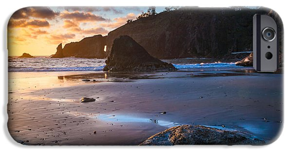 Beach iPhone Cases - Second Beach Sunset iPhone Case by Inge Johnsson