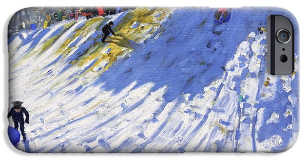 Tobogganing iPhone Cases - Second Hole Allestree Golf Course iPhone Case by Andrew Macara