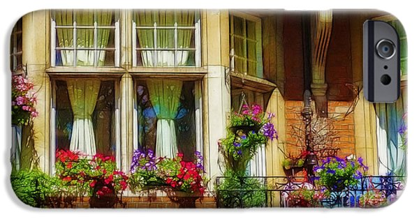 Balcony iPhone Cases - Second Story iPhone Case by Judi Bagwell