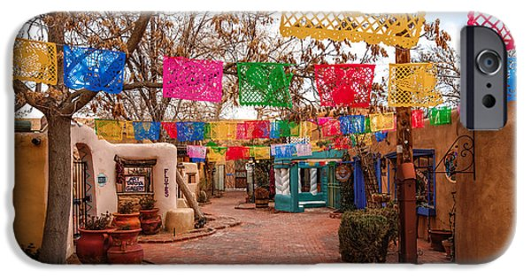 United States iPhone Cases - Secret Passageway at Old Town Albuquerque II - New Mexico iPhone Case by Silvio Ligutti