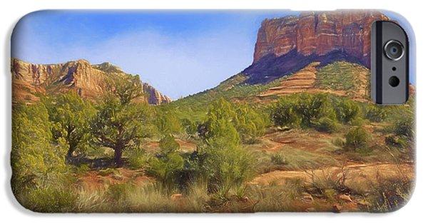 Sedona iPhone Cases - Sedona Landscape #1 - Arizona iPhone Case by Nikolyn McDonald