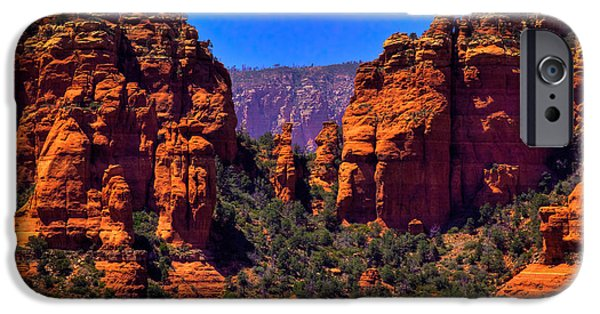 Sedona iPhone Cases - Sedona Rock Formations II iPhone Case by David Patterson