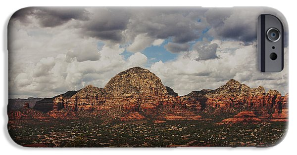 Red Rock iPhone Cases - Sedona Skies iPhone Case by Ruth Jolly