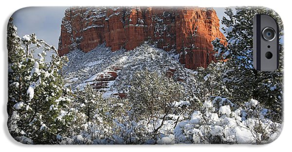 Sedona iPhone Cases - Sedona Snow iPhone Case by Donna Kennedy