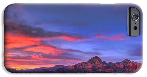Recently Sold -  - Sedona iPhone Cases - Sedona Sunset iPhone Case by Eddie Yerkish