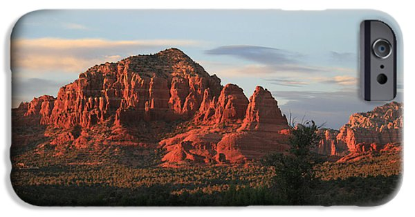 Sedona iPhone Cases - Sedona Sunset iPhone Case by Ellen Henneke