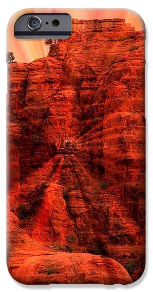 Sedona Sunset Energy - Abstract Art iPhone Case by Carol Groenen