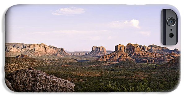 Sedona iPhone Cases - Sedona Sunset  iPhone Case by Paul Basile
