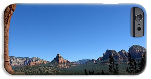 Sedona iPhone Cases - Sedona View from Cave iPhone Case by Marlene Rose Besso