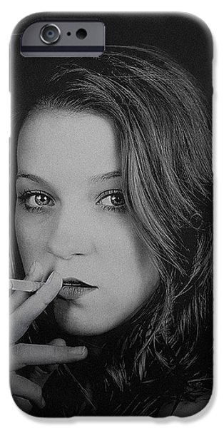 Girl Photographs iPhone Cases - Seduction iPhone Case by Paul Neville