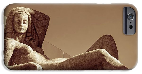 Sculpture iPhone Cases - Seduction iPhone Case by Wim Lanclus