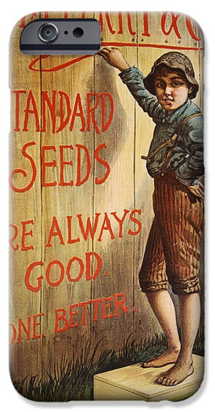 Tom Boy iPhone Cases - SEED COMPANY POSTER, c1890 iPhone Case by Granger