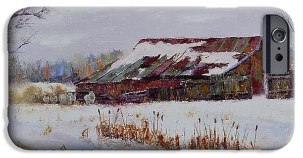 Snowy Day iPhone Cases - Seen Better Days iPhone Case by Stephen David Rathburn
