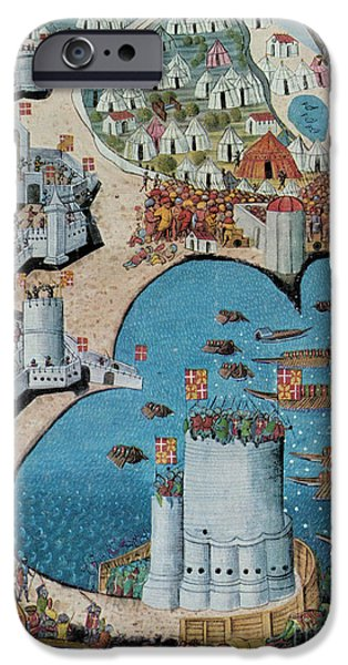 Rhodes iPhone Cases - Seige of Tower Of Saint Nicolas iPhone Case by Photo Researchers