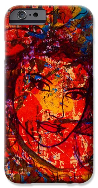 Self-Portrait-5 iPhone Case by Natalie Holland