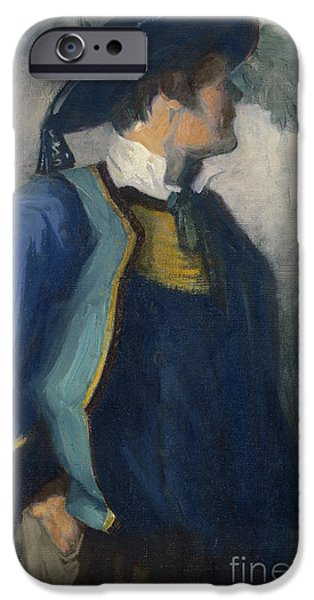 1904 iPhone Cases - Self-Portrait in Bretonnian Garb iPhone Case by Franz Marc