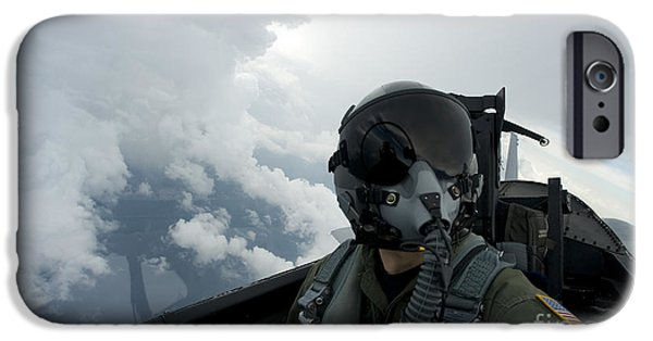 Air Force One iPhone Cases - Self-portrait Of An Aerial Combat iPhone Case by Stocktrek Images