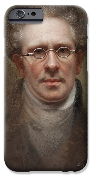 Self Portraits iPhone Cases - Self Portrait iPhone Case by Rembrandt Peale