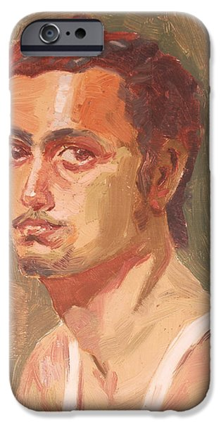 Virtual iPhone Cases - Self portrait sketch  iPhone Case by Makarand Joshi